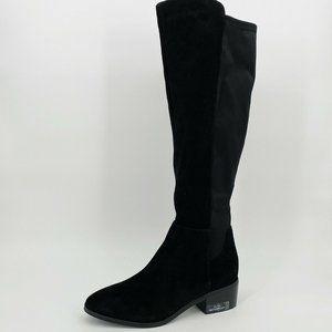 Blondo Gallo Waterproof Boot Knee High Black Suede